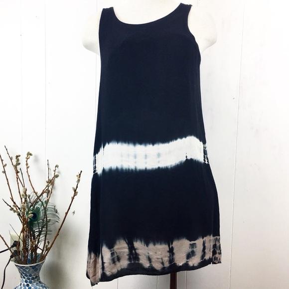 Anama Dresses & Skirts - Anama Black Sleeveless Tie Dye Dress Medium